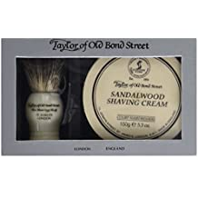 Pure Badger Shaving Brush and Sandalwood Shave Cream Bowl 150g in Gift Box 2 shave set by Taylor of Old Bond Street
