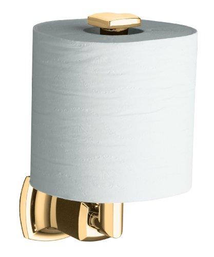 Kohler K-16255-BV Margaux Toilet Tissue Holder, Vibrant Brushed (Tissue Holder Vibrant Brushed Bronze)