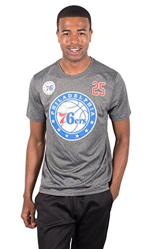 Ultra Game NBA Ben Simmons Philadelphia 76ers Men's T-Shirt Short Sleeve Tee Shirt, Small, Charcoal