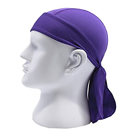 5cc7df49 Buy Quick Dry Pure Cycling Cap Head Scarf Summer Men Running Riding Bandana  Headscarf Ciclismo Pirate Hat (Purple) Online at Low Prices in India -  Amazon.in