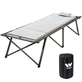 "Willpo Camping Foam Pad Small Single Size [75""x24""x2] Roll-up Adjustable Lightweight Mattress for Outdoor Camping Cot with Removable Waterproof Cover & Travel Bag"