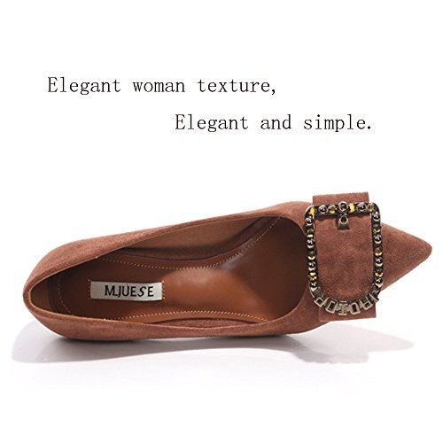 Primavera JIANFCR de la las de inglesas baja Consejos mujeres ayuda Zapatos letras de bajos boca Khaki otoño de Caqui Zapatos negro altos Tacones y Corbata UPxZEw