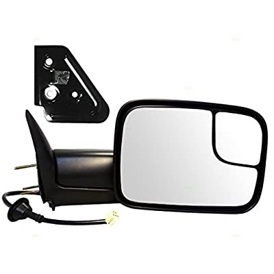 Passengers Power Tow 7x10 Flip Up Performance Upgrade Mirror Heated with Bracket Replacement for Dodge Pickup Truck 55076488AB