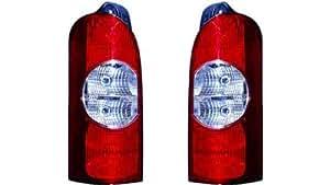 Iparlux 16537031 – Piloto trasero izquierdo, sin portalámparas, Blanco-Rojo