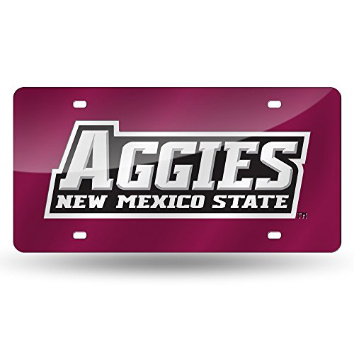 NCAA New Mexico State Aggies Laser Inlaid Metal License Plate Tag