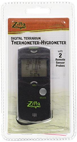 Zilla Reptile Terrarium Digital Thermometer-Hygrometer ()