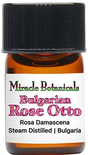 Miracle Botanicals Bulgarian Rose Otto Essential Oil - 100% Pure Rosa Damascena - 2ml, 5ml, and 10ml Sizes - Therapeutic Grade - 2ml