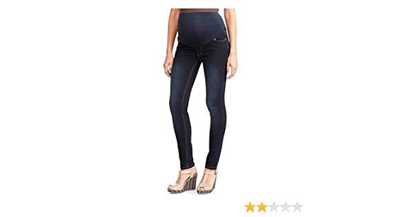 6cc49558dfb64 Oh! Mamma Maternity Plus-Size Full-Panel Basic Super Soft Straight-Leg Jeans  at Amazon Women's Clothing store:
