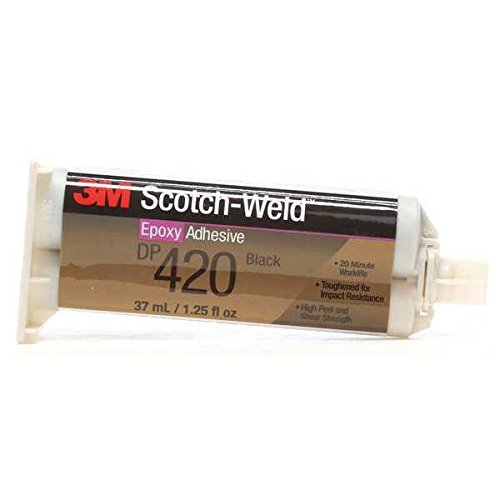 3M Scotch Weld Epoxy Adhesive Dp420 Black 1.25Oz (Price is for 12 Tube/Case) - 3M ABRASIVE 021200-41528