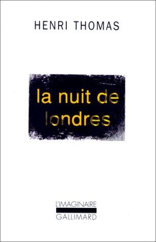 La Nuit De Londres Telecharger Pdf De Henri Thomas Nayfotendio