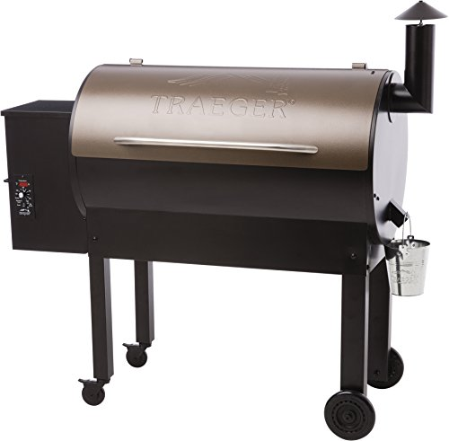 Traeger Grills TFB65LZBC Texas Elite 34 Wood Pellet Grill & Smoker, 646 Sq. In. Cooking Capacity, Bronze (Best Place To Probe A Turkey)