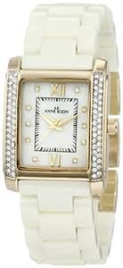 Anne Klein Women's 10/9922IMIV Swarovski Crystal Accented Gold-Tone Ivory Ceramic Bracelet Watch