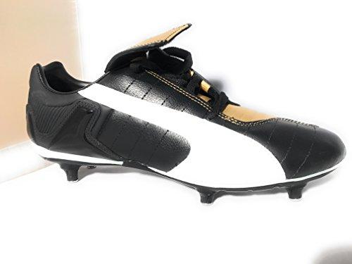 Puma V-Kon III SG Herren Fußball-Schuhe - Schwarz-Gold Gr.42 1/2