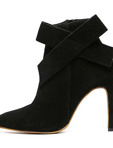 Black Mujer Uk6 Cn39 Zapatos Tacón Cn34 De Puntiagudos Vestido Botas Black Vellón Negro Stiletto Eu39 Eu35 Tacones Xzz us5 us8 Uk3 w6P4xZqqE