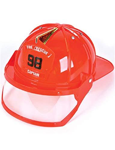 Adult Fire Fighter Captain Costume Hard Hat Toy Helmet ()