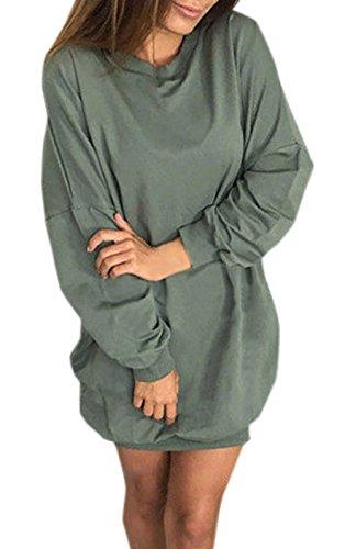 Da Felpe Maglieria Manica Jumper Rotondo Vestiti E Green Moda Partito Lunga Corto Sweater Donna Tunica Casual Inverno Autunno Collo Army Pullover Maglione Monika vWqAHFzW