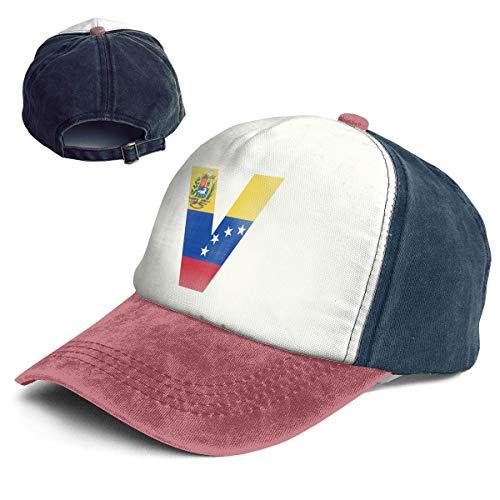 (Venezuela Flag V Letter Top Level Unisex Quick Dry Sun Cap Outdoor Sports Baseball Caps Adjustable Hat)