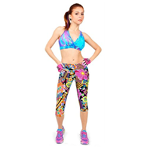 Doinshop High Waist Fitness Sports Pant Stretch Cropped
