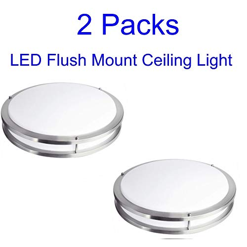 (FulBrite 14-Inch LED Flush Mount Ceiling Light, ETL & Energy Star Listed, Dimmable LED Ceiling Light (2)