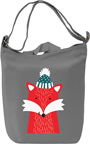 Winter Fox Borsa Giornaliera Canvas Canvas Day Bag| 100% Premium Cotton Canvas| DTG Printing|
