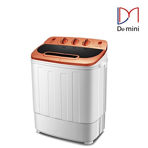 Do mini Portable Compact Twin Tub 13Ibs Capacity Washing Machine and Spin Dryer