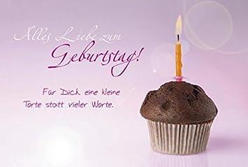 Schone Geburtstagskarte Alles Liebe Zum Geburtstag Muffin Amazon