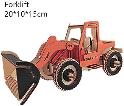 Cool-Running Carro De Madera Rompecabezas 3D Rompecabezas 3D Rompecabezas DIY Montado A Mano Modelo Rompecabezas Rompecabezas Piezas Hechas A Mano C: Amazon.es: Juguetes y juegos