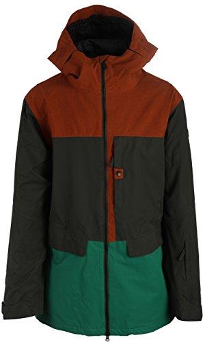 Ride Snowboards 2015/16 Men's Georgetown Shell Jacket (Black Olive - M) - Ride Georgetown Jacket