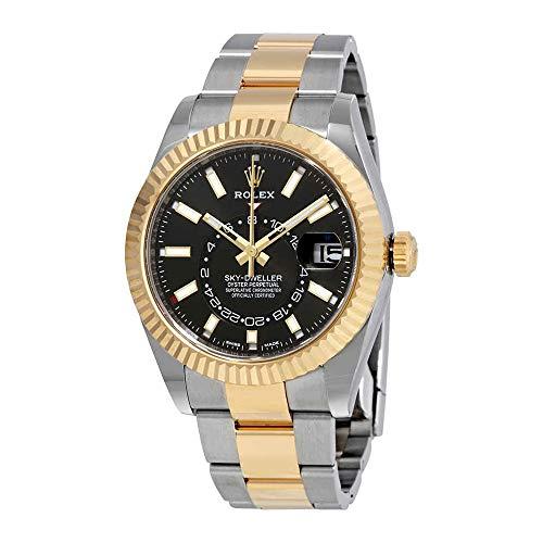 Rolex Sky-Dweller Automatic Mens 18kt Yellow Gold Oyster Watch 326933BKSO 18kt Yellow Gold Mens Watch