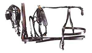 Miniature Horse Tracker Leather Driving Harness Black