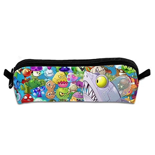 FANGHUABATHRHSQ Plants Vs Zombies and Shark Unisex Student Pencil Case Pen Box Stationery Bag Canvas Storage Bags with Zippered for Girl Boys]()