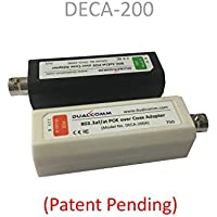 Dualcomm POE-over-Coax Adapter Kit (DECA-200) - Twin Pack