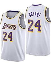 Lakers # 24 Kobe Brinet Breathable Mesh Embroidery Vest Breathable, Men's Basketball Jersey Sleeveless T-Shirt, Wei? - XXL