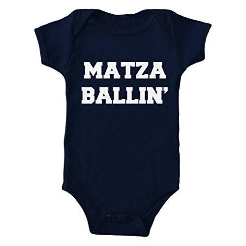 Trunk Candy Matza Ballin' Infant Lap Shoulder Bodysuit (Navy, 6M) ()