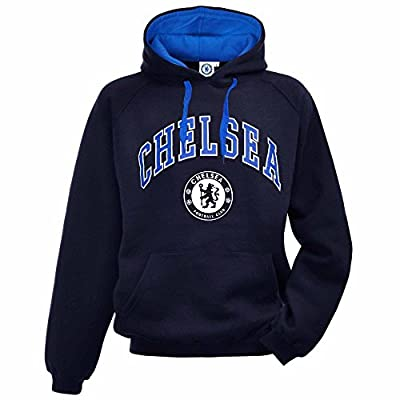 Official Chelsea FC Crest Soccer Hooded Sweatshirt (Adult Sizes S to 2XL)