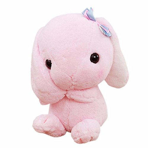 For Christmas,Puppet for Girls,Sunfei Rabbit Plush Stuffed Animal 9 Inches Jackrabbit Toy Limited Edition (Pink) - Girl Puppet Skin