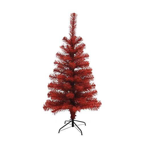 """Creative Co-op Vintage 35.25"""" H Artificial Christmas Tree, Red"""