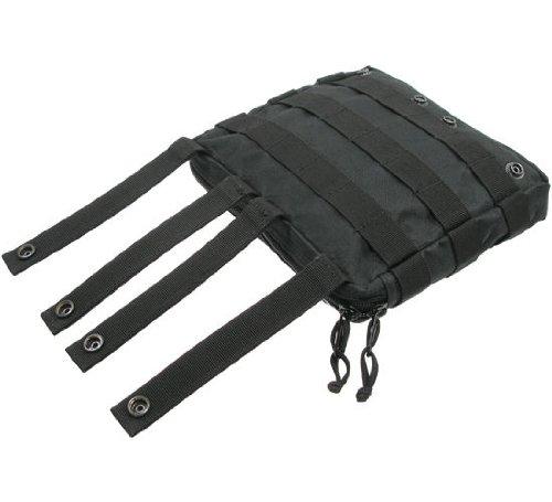 BE-X Stapelbare Tasche -Shingle gross- mit MOLLE, für MOLLE - schwarz
