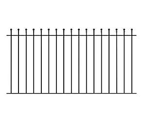 Casa de bola jardín powapost Panel 1830 mm (182,88 cm) boquete x 914 mm de hierro forjado estilo Metal