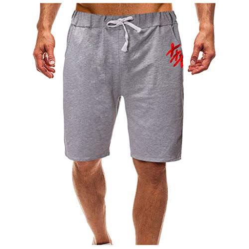 F/_Gotal Men/'s Casual Classic Fit Printed Drawstring Waist Sports Pants Training Jogger Shorts Sweatpants Shorts for Men