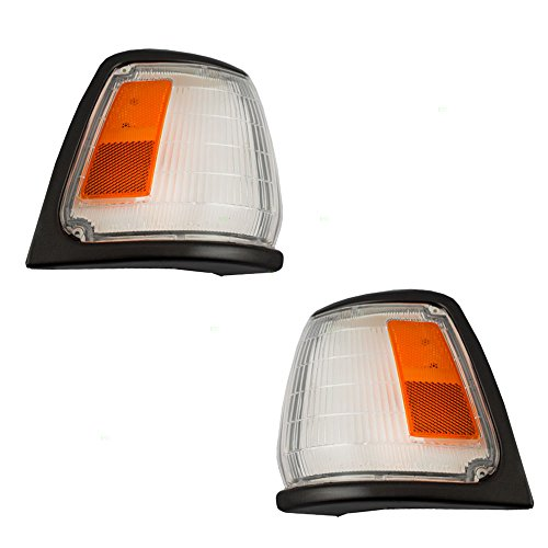 - Driver and Passenger Park Signal Front Marker Lights Lamps with Black Trim Replacement for Toyota Pickup Truck 8162089176 8161089176 AutoAndArt