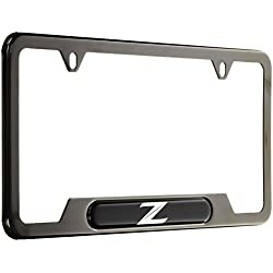 Genuine Nissan Accessories 999MB-ZV000BP Black Pearl License Plate Frame with Z Logo
