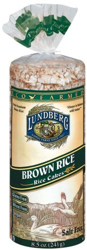 Lundberg Family Farms Eco-Farmed Brown Rice Cake, Salt Free, 8.5-Ounce Units (Pack of 12)