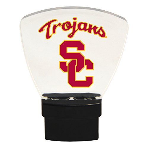 (Authentic Street Signs NCAA Officially Licensed, LED NIGHT LIGHT, Super Energy Efficient-Prime Power Saving 0.5 watt, Plug In-Great Sports Fan gift for Adults-Babies-Kids (USC Trojans))