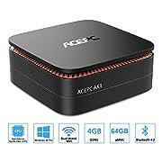 #LightningDeal ACEPC AK1 Mini PC, Windows 10 Pro(64-bit) Intel Celeron Apollo Lake J3455 Processor(up to 2.3GHz) Desktop Computer,4GB DDR3/64GB eMMC,2.4G+5G Dual WiFi,Gigabit Ethernet,BT 4.2,4K
