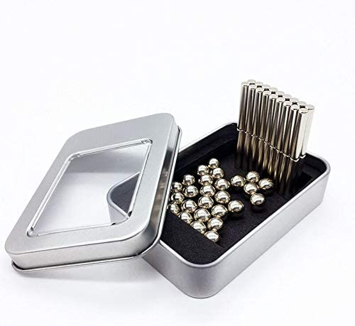 Intelligenzentwicklung DIY Relief Stress und Gehirntraining f/ür b/üro 36pcs+27pcs 3D Puzzle Geometrische Bildung Requisiten Box Magnetische Bausteine Set Magnetic Stick Bausteine Spielzeug