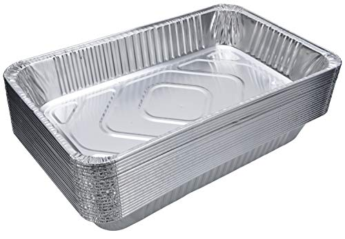 DOBI (15-Pack) Full-Size Deep Chafing Pans - Disposable Aluminum Foil Steam Table Deep Pans, Large Size - 20 1/2