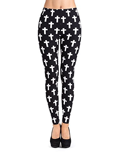 be7c4f76e2eed PL-SLE-1547 SEJORA Printed Leggings Full Length Patterned with Designs - ( One