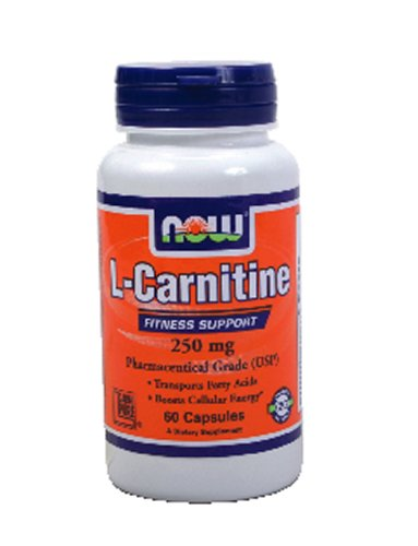 Now Foods L-Carnitine 250 mg Tartrate-L-Carnipure - 60 Caps 8 Pack