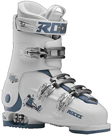 Roces Adjustable Idea Up Ski Boots White-Teal Size 22.5-25.5